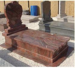 De aangepaste Zwarte/Grijze/Rode/Purpere/Witte Grafsteen van de Steen van het Graniet voor de Grafsteen/de Grafzerk/de Grafsteen van de Engel