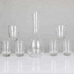 Insieme di cristallo fatto a mano poco costoso del decantatore del vino della tazza di vetro bevente
