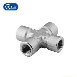 Xe 4 voies en acier inoxydable Cross Joint d'accouplement pour le flexible hydraulique