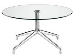 Forme ronde 10mm épaisseur Table en verre trempé transparent haut de page