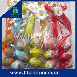 Mini-décoration extérieure logo imprimé Oeufs de Pâques en plastique