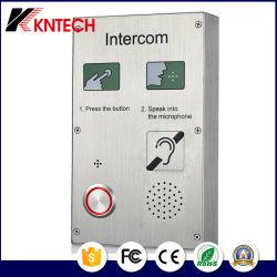 Elevador de aço inoxidável Knzd-30 telefone digital de áudio de emergência Doorphone