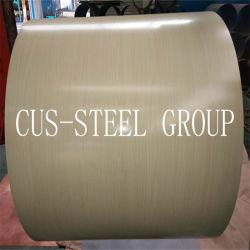 중국 제조 공장 월넛 우드 프린팅 스틸 코일/나무 패턴 PPGI