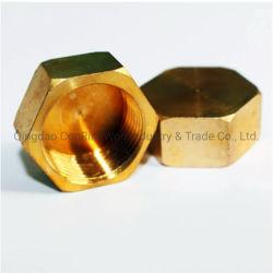 Personalizado de alta calidad de mecanizado CNC de Latón de cobre las tuercas hexagonales