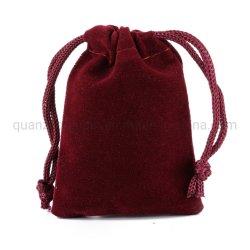Flocage OEM Fibre Bijoux sac cadeau de promotion de l'écouteur de vin