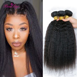 Produtos grossistas Virgem Cabelo Brasileiro Yaki Hair tecem Remy Extensões de cabelo humano natural de cabelo