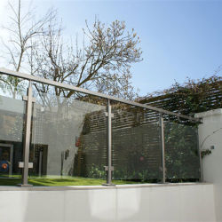 Le verre trempé Balustrade Terrasse balustrade en verre (PR-1013)