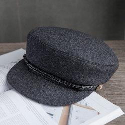 Leisure Gray Wool Militiary Hat 、カスタマイズ可能なロゴとデザイン