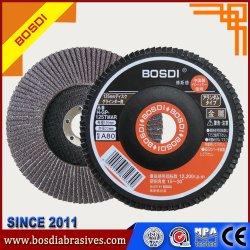 高品質5inchの折り返しディスクかディスクまたは車輪、粉砕ディスクまたはディスクまたは車輪、研摩ディスクまたは車輪またはディスクのモップディスク、上塗を施してある研摩剤、磨くディスク、鋼鉄ステンレス製のためのツール金属
