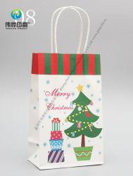 Печать пользовательские моды дизайн рождественских покупок в подарочной упаковке бумаги мешок
