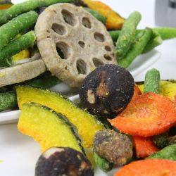 Hot Sale de la Chine Nouveau Style Vf de légumes en conserve des collations santé vide mixtes à basse température les croustilles de légumes frits bon marché de gros
