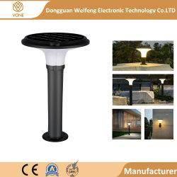 Новый стиль IP 65 6 Вт Светодиодные лампы в саду солнечной черного цвета из алюминия + ПК материала лампа на лужайке Напольный светодиодный светильник