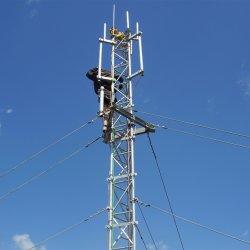 세 개의 레깅드 Guyed 안테나 안진기 센서 스틸 튜브 마스트 통신 아연 도금 삼각형 라디오와 텔레비전 마이크로파 안테나 5G Guyed Tower
