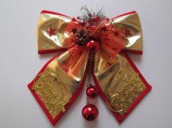 La nueva cinta de tejido de la Navidad arco