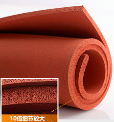 1mm, 2mm, 3mm, 4mm, 5mm, 6mm, 8mm, 10 mm, 12 mm, 15 mm, 20 mm de espessura próxima célula de silicone vermelho Folha esponja, espuma de silicone folha (3A1002)