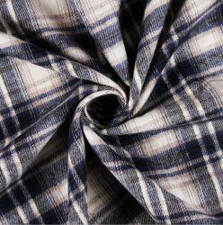 100% 21*21 64*54 Fils de coton teint en tissu de chemise