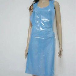 Hot Sale plastique blanc tabliers jetables gaufré PE/un tablier en plastique/Tablier jetable