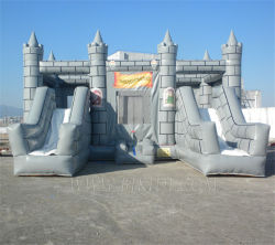 Двойной слайды надувной замок с прыгающими мячами, Bouncer слайд-Combo B3069