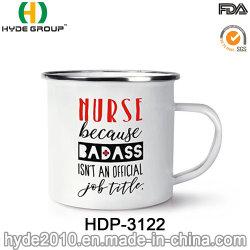 캠핑을 위한 로고 프린팅 기능이 있는 맞춤형 간호사 350ml 메탈 에나멜 컵(HDP-3122)
