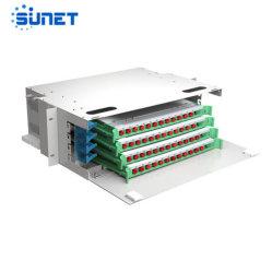 72 ports de base ODF Distribution optique de montage en rack du châssis du panneau de raccordement à fibre optique