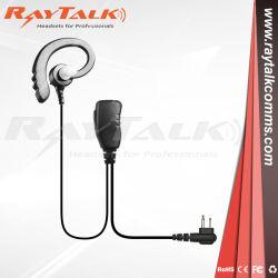 La reducción de ruido auricular 2 Cable de micrófono Electret Elemento para el radio de dos vías Walkie Talkie