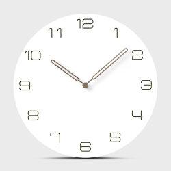 30cm MDF blanc simple pendaison nordique Bois rond Watch