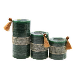 Fabbrica professionale personalizzata popolare della decorazione domestica Handmade di rivestimento rustico colorata candela della colonna all'ingrosso