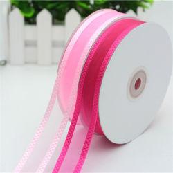 Fabrico Fornecedor 100% nylon Organza puro dom de decoração de fita
