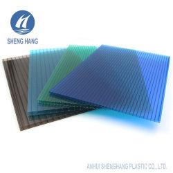 Высококачественный двухстенный поликарбонатный лист с защитой от УФ-излучения