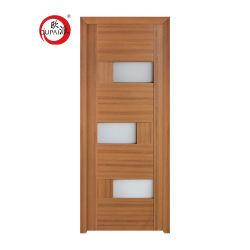 새로운 유일한 디자인 MDF 룸 홍조 유리제 삽입 목제 안쪽 문