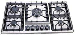 Fogão a Gás chama azul com aço inoxidável equipamento de cozinha fogão a gás