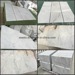 Natürliche weiße MarmorBianco Carrara Marmorsteinwand u. Bodenbelag-Fliesen