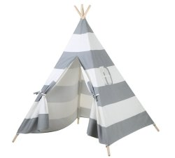 Gestreiftes Kinderteepee-Zelt