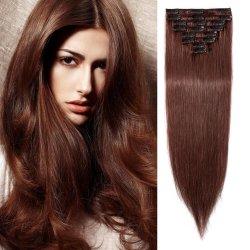 Großhandel 100% menschliche Jungfrau brasilianischen Remy Clip in Haarverlängerung 24 Cm Gerade Ausführung Alle Farben