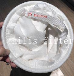 Commerce de gros 25 microns de l'huile PP/PE absorber les chaussettes de filtre/sac de filtre