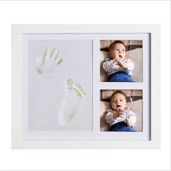 Commerce de gros de bois solide cadre photo Handprint bébé nouveau-né