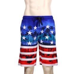 I pantaloni della spiaggia degli uomini, gli Shorts allentati della Camera, l'estate mettono in mostra gli Shorts casuali della stampa