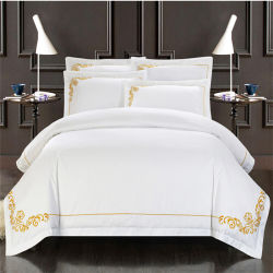 Usine de l'hospitalité de luxe de gros de linge de lit en tissu de coton à 100 %