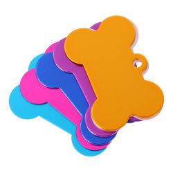 Дешевые высокое качество индивидуального логотипа красочные собака кость форма OEM-Pet теги Лазерная технология термосублимации красителей из анодированного алюминия пустым Cat ID Dog Tag