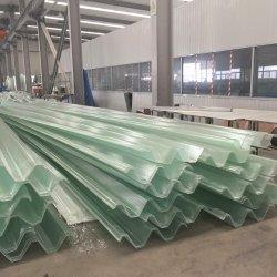 Panel de techo de fibra de vidrio plano de gases de efecto invernadero de trampa de luz Material de construcción