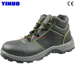 Steel Toe En cuir Semelle intermédiaire en acier de construction Travaux d'exploitation minière des bottes de sécurité