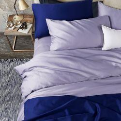 El lujo de 100% algodón liso teñido Hotel cama Ropa de cama de la hoja de Textil (JRD178)