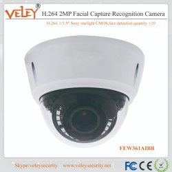 2MP Camera van de Erkenning van het Gezicht van de Camera van kabeltelevisie IP van de Erkenning van het sterrelicht de Gezichts
