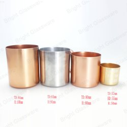 Peste Rose Gold e Silver pega de alumínio suporte para velas