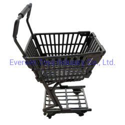 عربة تسوق بلاستيكية تحتوي على دمية لعب مزودة بملحق مزدوج