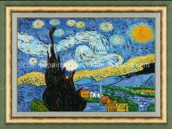 Giclee Print Night stellato da Vincent Van Gogh Reproduction sulla pittura a olio di Canvas Framed