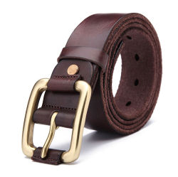 Baixo preço de fábrica OEM Cintura Designer cintos de couro castanho
