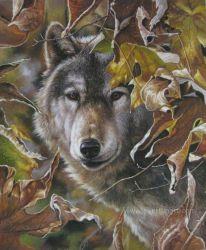 Emoldurado pintado à mão de pintura de Animais Selvagens