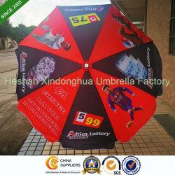 2m цифровая печать рекламных открытый Sun солнечным зонтом из расчета тебя от ветра с ребрами (BU-0040W)