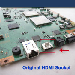 HDMI Cable Port Socket Part für PS3 Slim Motherboard (WRP3S031)